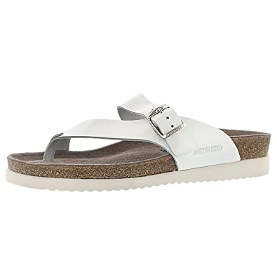 973f8365b28 Mephisto Women's Helen Casual Sandals, White, Leather, Cork, Latex, Rubber,