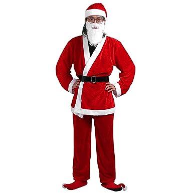 iiniim Disfraces Adulto de Navidad Christmas Disfraz de Terciopelo ...