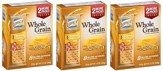 Lance Conjunto Grano Queso Cheddar (Crackers – 3 cajas de 8 ...