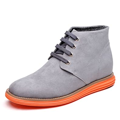 81cabf5373c717 Genuine Leather Height Increasing Elevator Shoes Men s Casual Business Shoes  Get Taller 2.36 Inch US5.