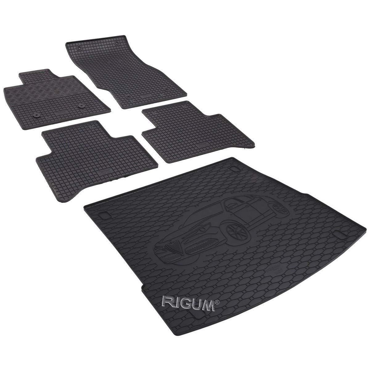 904208-1B-801019 Kit tappeti auto e protezione baule gomma colore nero