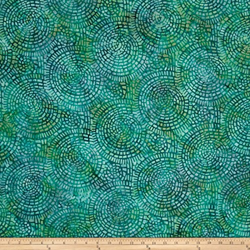 Teal Batik (Kaufman Artisan Batiks Bella Vita Circle Maze Teal Fabric By The Yard)