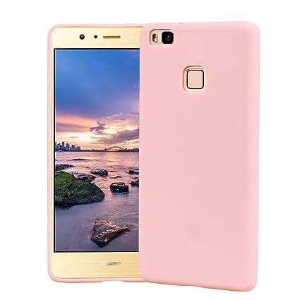 Funda HuaWei P9 Lite, Carcasa HuaWei P9 Lite Silicona Gel, OUJD Mate Case Ultra Delgado TPU Goma Flexible Cover para HuaWei P9 Lite - Rosa