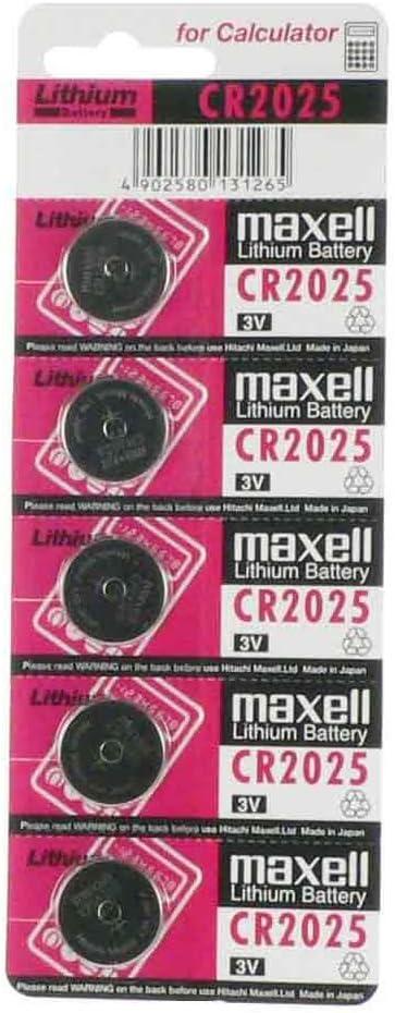 Maxell MACR2025 - Pack de 5 Pilas botón (3 voltios)