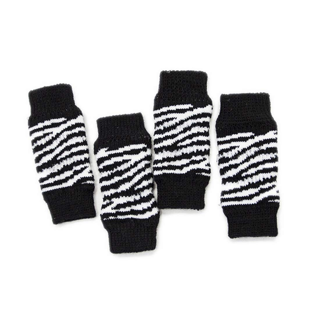 Black and White Small KTYX Pet Sock Predection Joint Dog Knee Pads Pet Supplies Socks Legs pet Clothes (color   Leopard, Size   L)