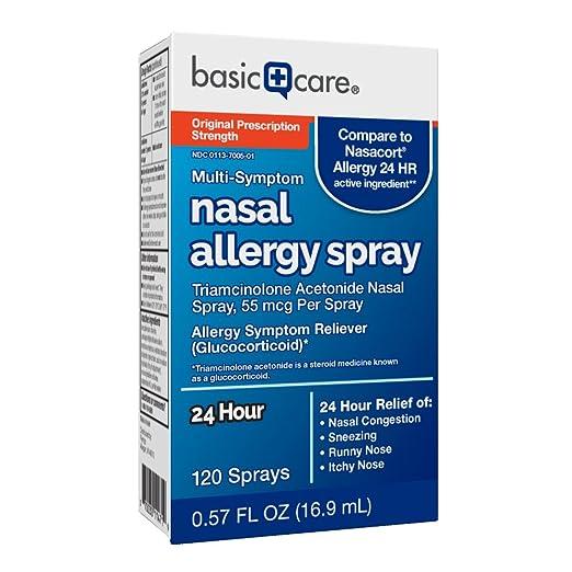 Amazon Basic Care Nasal Allergy Spray Triamcinolone Acetonide