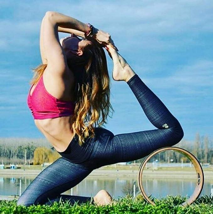 MyYogaWheels Trigger Point Rueda de Yoga para Alivio del Dolor de Espalda, Rodillo de Espuma de 13 Pulgadas, Masaje de fisio