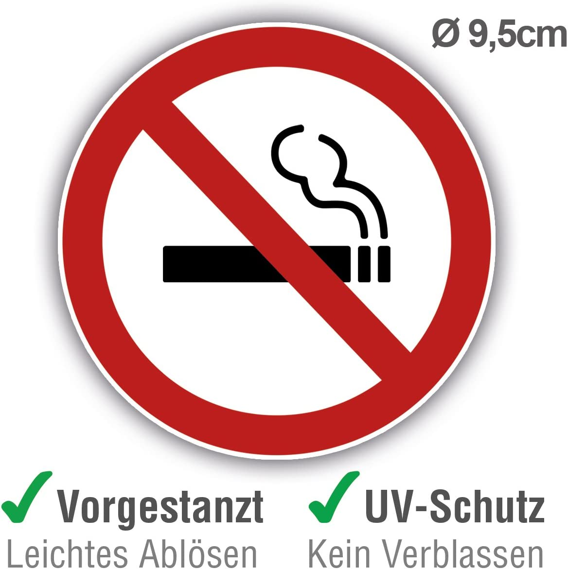 Autocolant sticker interdit ne pas fumer fenetre bureau magasin porte no smoking