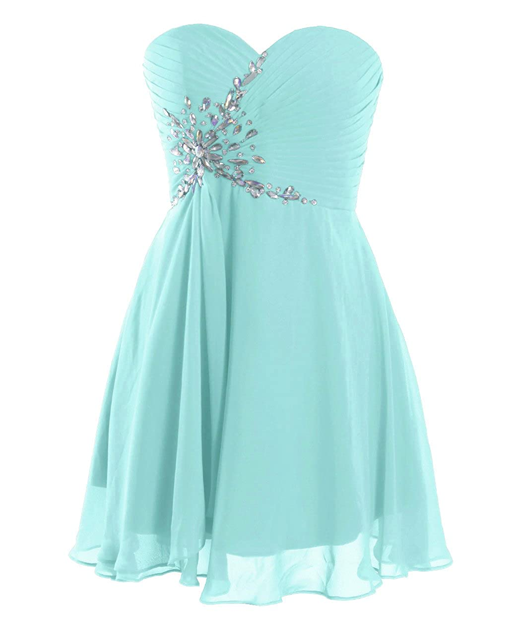 FAIRY COUPLE Short Strapless Sweetheart Prom Dress Crystal D0371