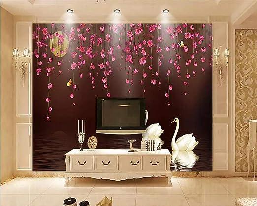 Papel pintado Fondo de pantalla 3D Romántico Amor rosa Fondo ...
