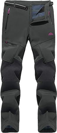 Tacvasen Pantalones Gruesos De Invierno Para Mujer De Tejido Softshell Resistentes Al Viento Con Forro Polar No Incluyen Cinturón Ideales Para Esquí Y Snowboard Clothing