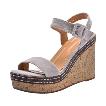 4ee5be5498 Summer Wedge Sandals - Black Waterproof Platform Open Toe Shoes Most ...
