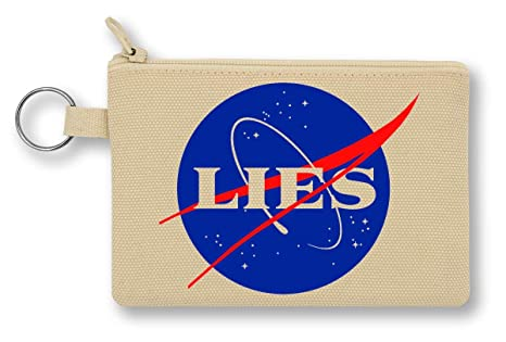 NASA Lies Logo Monedero de Lona con Cremallera Monedero ...