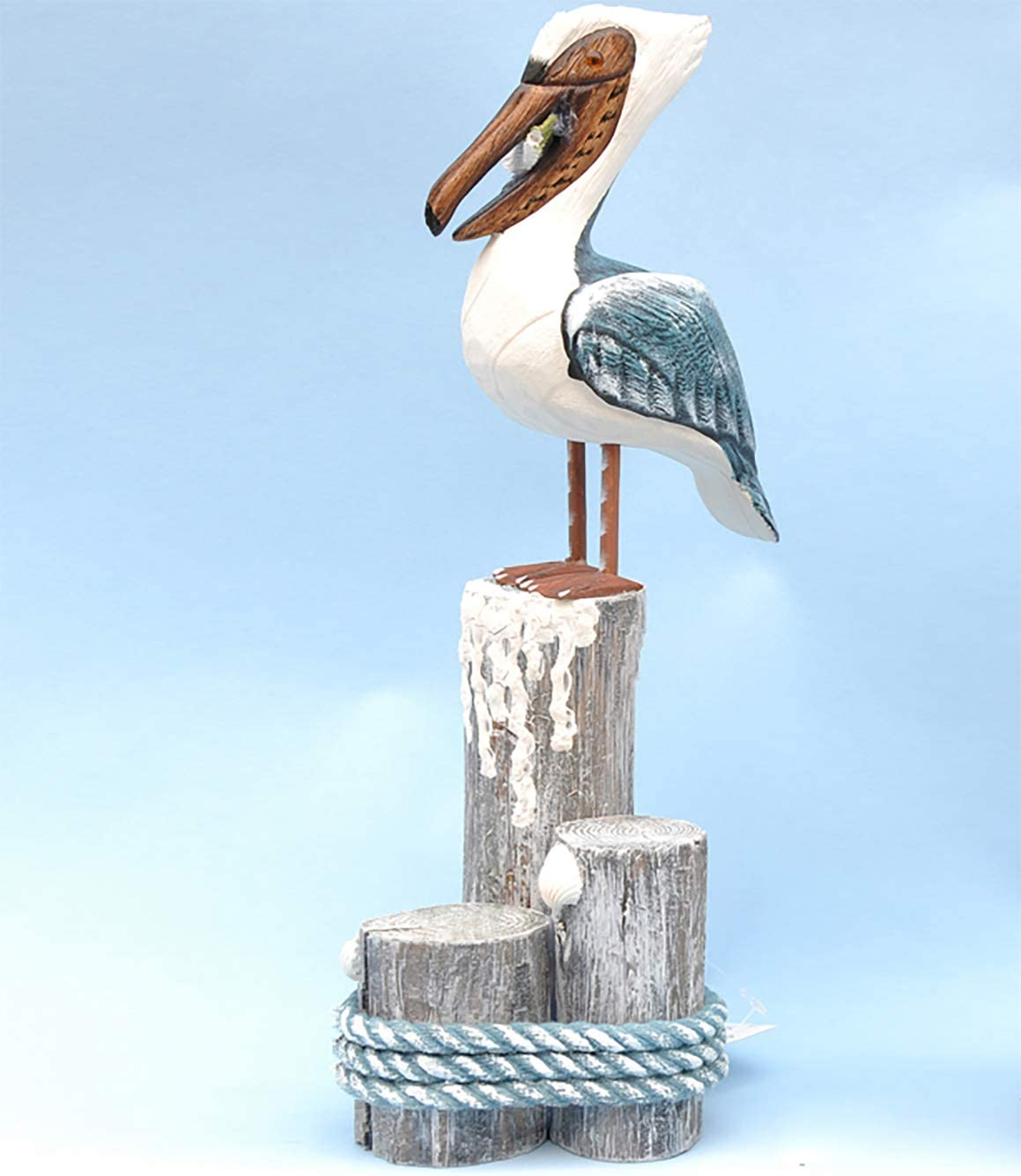 SAMEMO Wooden Pelicans Coastal Beach Home Decorations Figurine Nautical Decorations Ornaments Rustic Vintage Indoor Décor Nautical Gifts