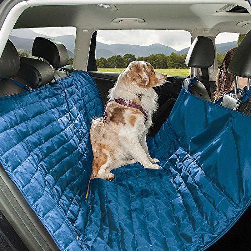 - Kurgo Waterproof Reversible Loft Hammock Style Dog Car Seat Cover, Pet Seat Cover, Blue/Orange