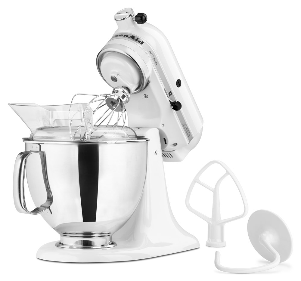 Ki Ki Kitchenaid Mixer Colors - Amazon com kitchenaid ksm150pswh artisan series 5 qt stand mixer with pouring shield white electric stand mixers kitchen dining