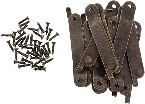 Antique Bronze Lid Support Hinges Home Furniture Upholstery Box Hing W// Screw