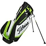 Titleist Lightweight 4-Way Stand Golf Club Bag with Backpack Strap, Lime Green