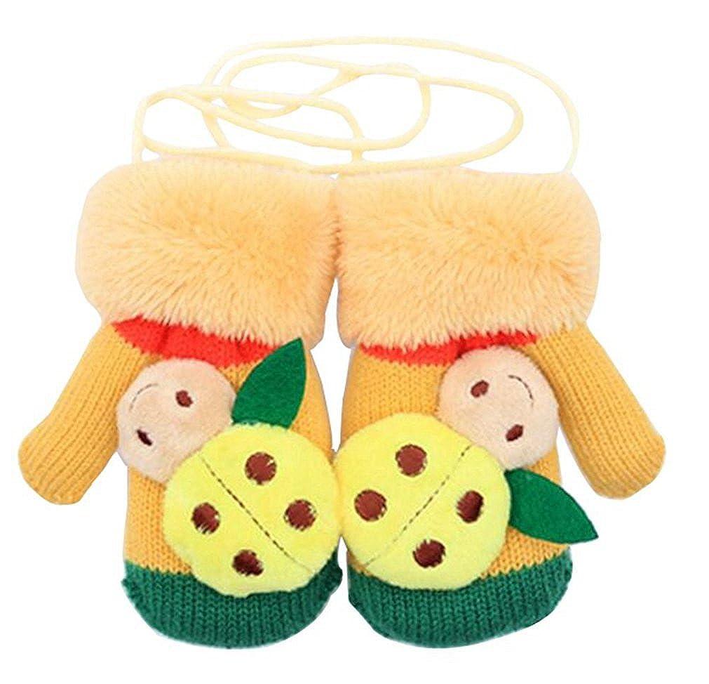 Samgu Invierno Niña Niño Baby Ladybug Guantes Calientes Manoplas Para Los Niños yeesstet16112230