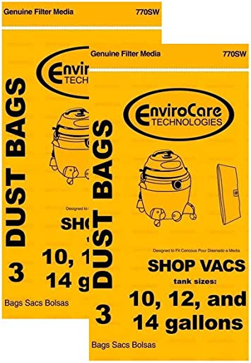 Shop Vac Filter Lined Bags 16-22 Gallon 90663 ShopVac 3 pk 906-63-00 FAST SHIP