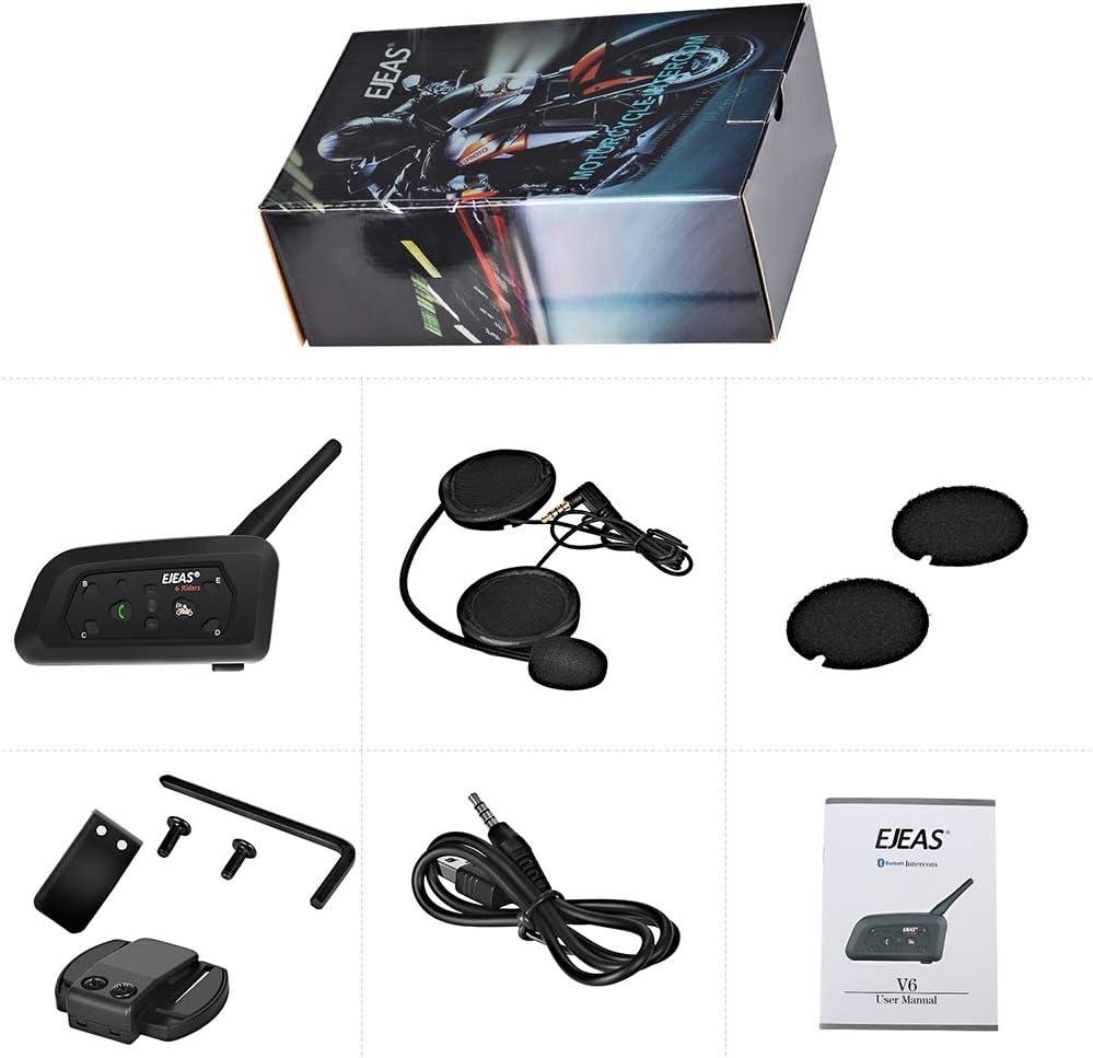 Fesjoy V6PRO Casco de Motocicleta Intercom 1200M Duplex Riding Walkie-Talkie para Casco de Motocicleta Moto Intercom Headset