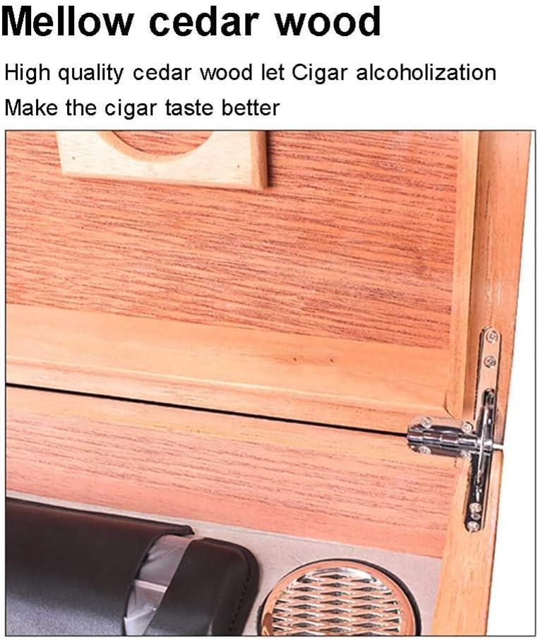 Color : Black beweglicher Spielraum f/ür M/änner//Frauen//Zigarrenliebhaber LXLFDJ Zigarren-Humidor Desktop-Zigarrenschachtel