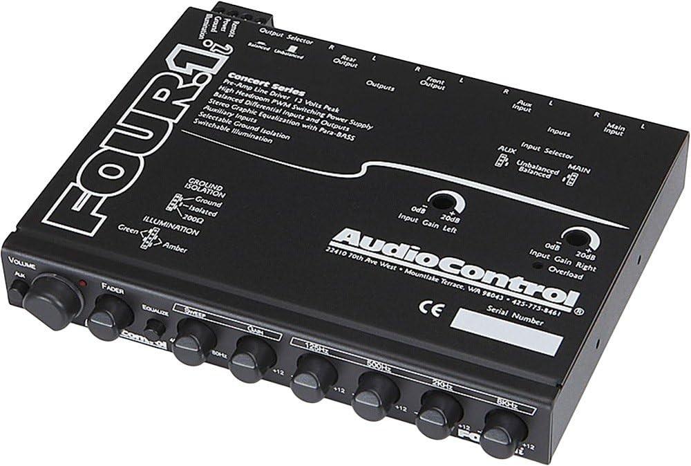 In-Dash EQ 3 Band Equalizer Crossover w// Aux Input AudioControl Three.2