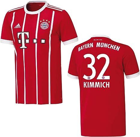 adidas Bayern Camiseta Home Niños 2018 – kimmich 32, 176: Amazon ...