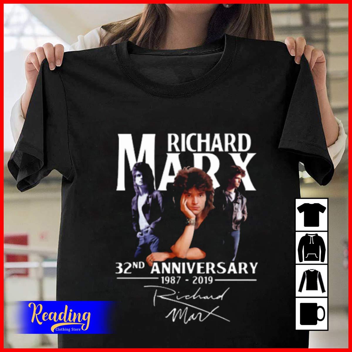 Richard-marx 32nd Anniversary 1987-2019 Signature T-shirt, , , Tank Top
