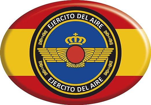 Amazon.es: Artimagen Pegatina Oval Bandera España con círculo Azul Ejército del Aire Resina 65x45 mm.