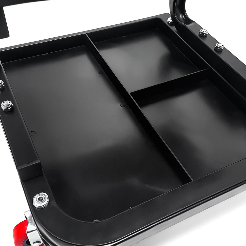 Biltek Creeper Seat Mechanics Rolling Work Stool Chair Auto Work Shop Garage Gear Tray + KapscoMoto Keychain