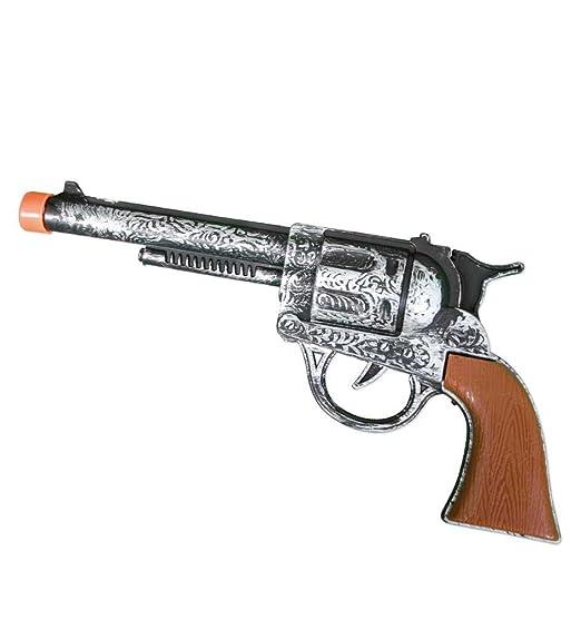 Revolver ROCKY Knall Pistole Kinder Spielzeug schwarz zum spielen Karneval