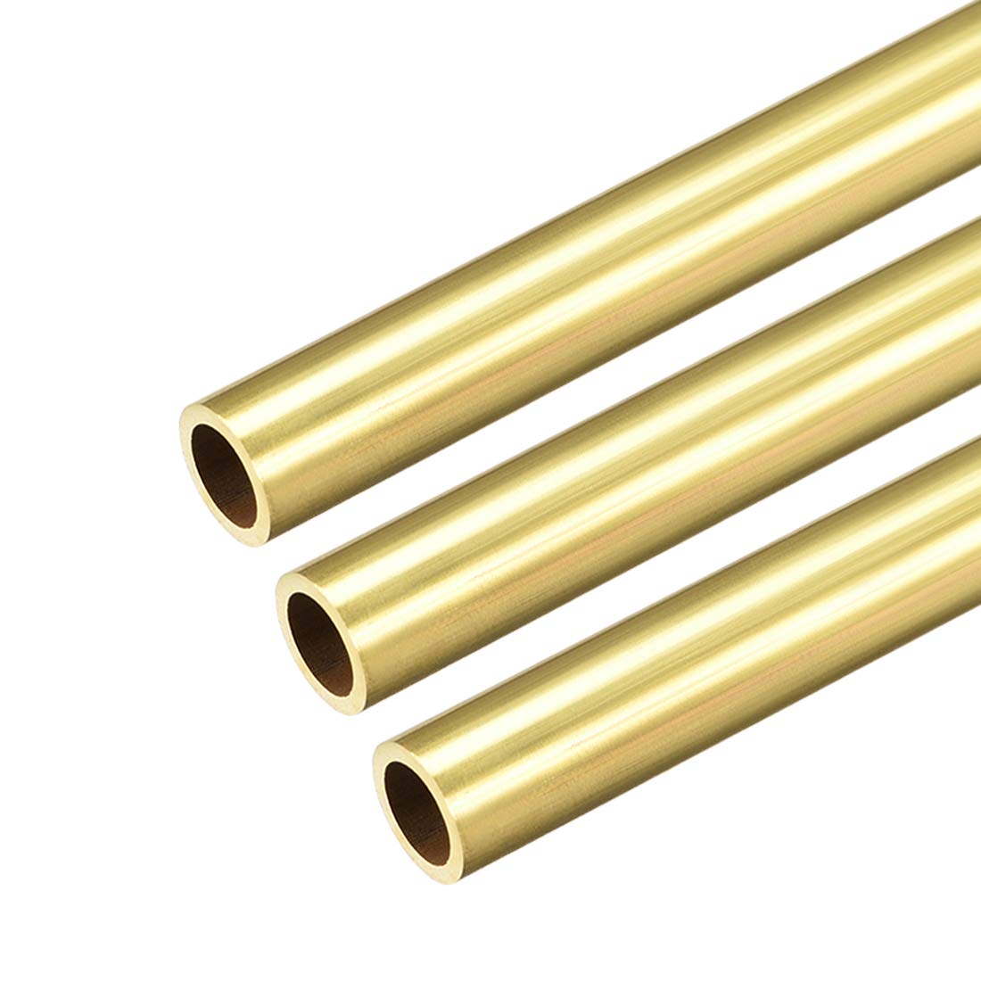 Brass Round Tube 300mm Length 3mm OD 1mm Wall Thickness Seamless Pipe Tubing