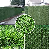 Synturfmats Artificial Hedge Slats Panels for Chain Link Fencing Outdoor Faux Hedge Privacy Screen Fence