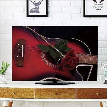 VANKINE - Funda para televisor LCD, multiestilo, Color Rojo y ...
