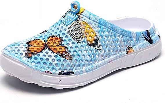 Zuecos Mujer, Playa Respirable Zapatos Ultraligero Sanitarios Zapatillas Las Sandalias Verano Antideslizante Jardín Fuera: Amazon.es: Deportes y aire libre