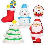 EKOOS Christmas Squishies Toys, Santa, Christmas Tree, Stocking, Snowman Squishy Soft Slow Rising Jumbo Squishies Kids…