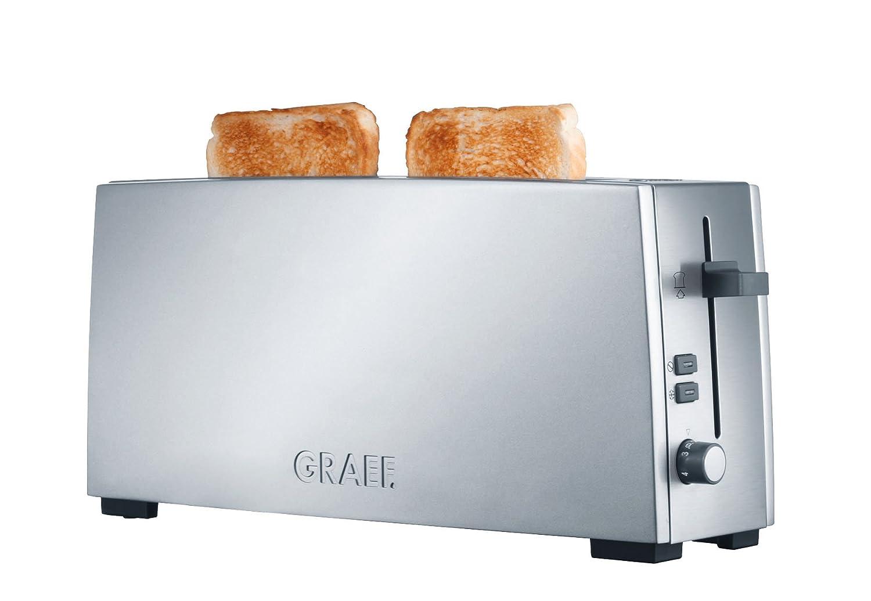 Amazon.de: Graef Langschlitz-Toaster TO 90, Edelstahl, silber