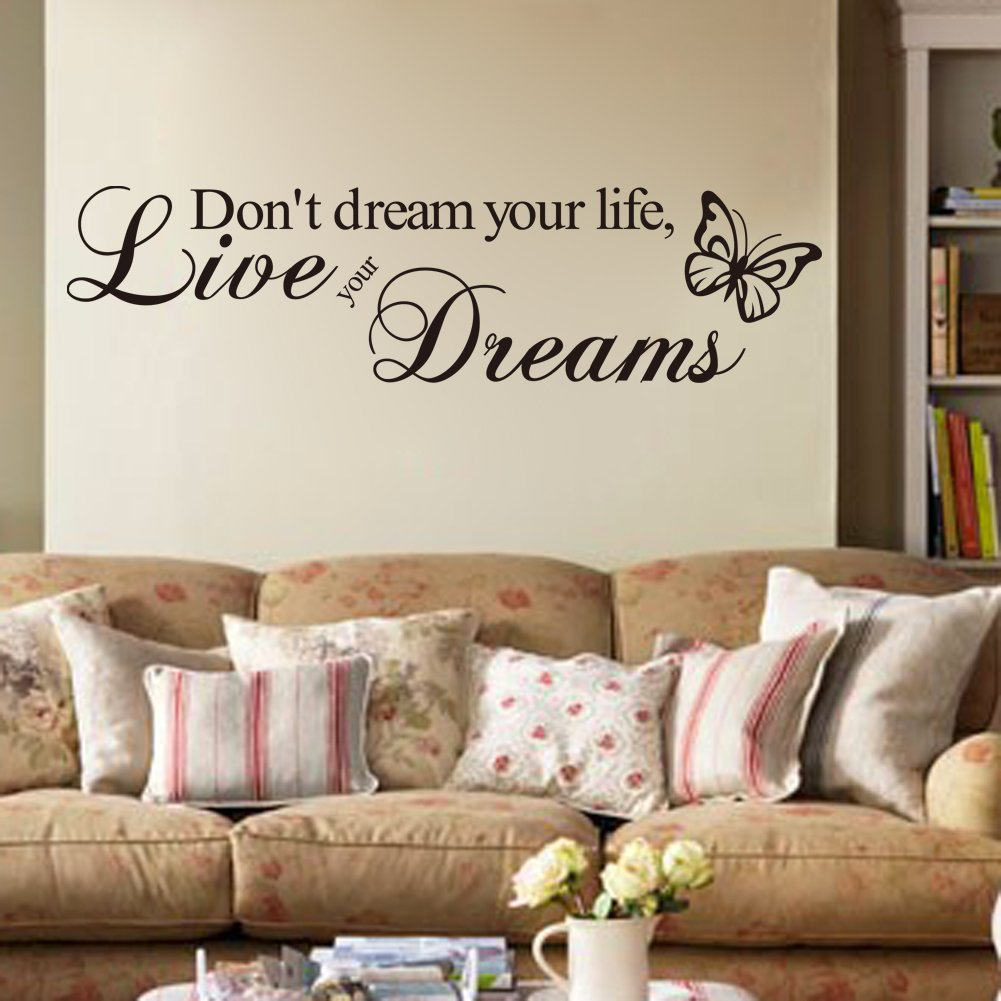 DON'T DREAM YOUR LIFE, LIVE YOUR DREAMS WALL QUOTE DECAL VINYL WORDS STICKER DON'T DREAM YOUR LIFE Mustbe Others