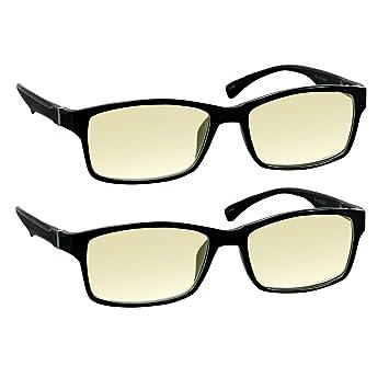 3e8d11ebf50 Computer Reading Glasses 0.00 Black 2 Pack Protect Your Eyes Against Eye  Strain