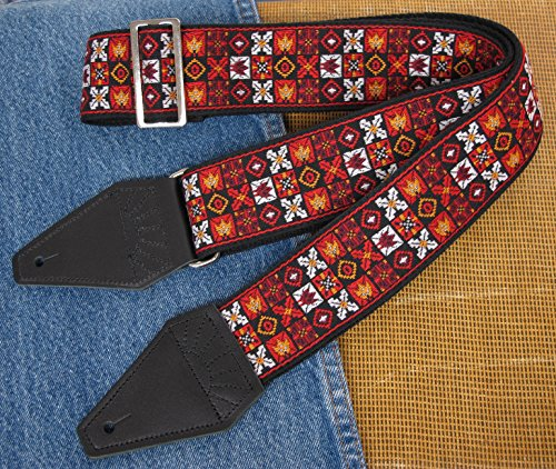 Hendrix Woodstock Cotton USA-made TROPHY Guitar Strap