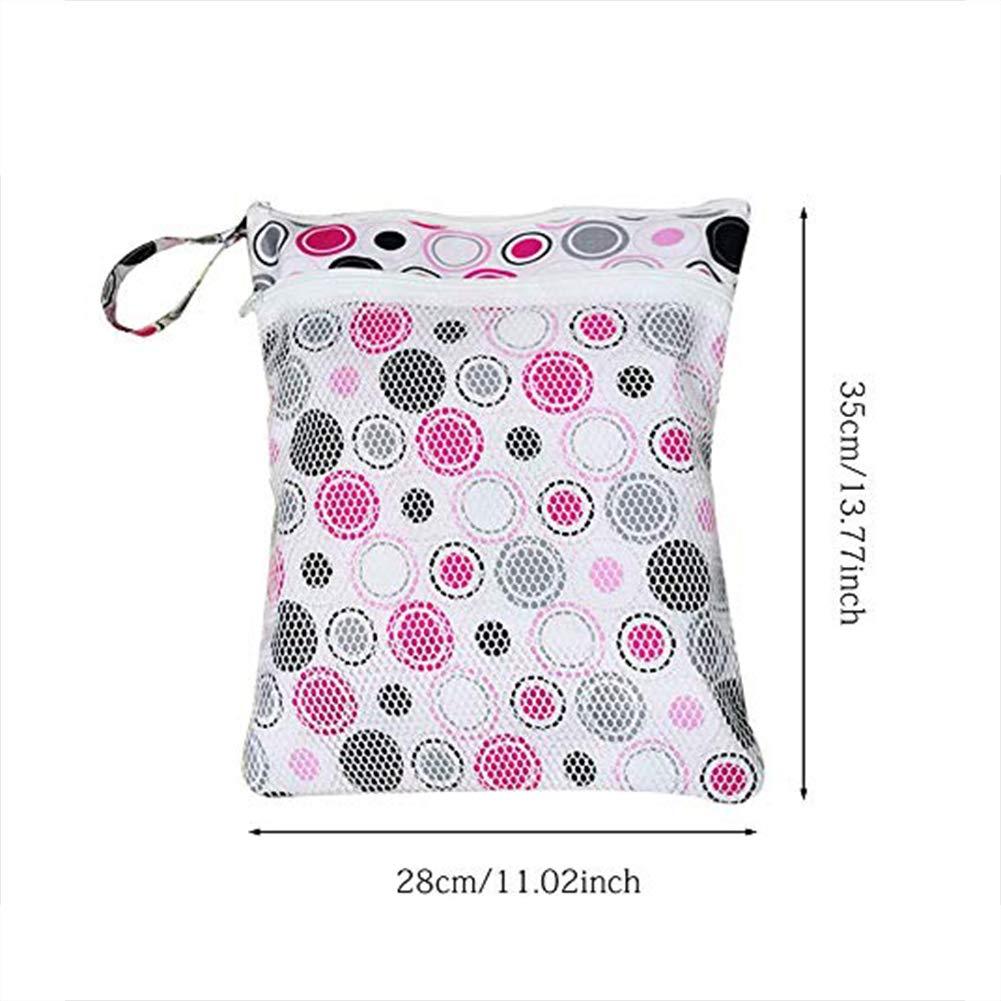 JooNeng bolsa de traje de ba/ño mojado pa/ñal grande seco reutilizable bolsas de viaje lavables cierre a prueba de z/íper para las mujeres y las madres Green Circle
