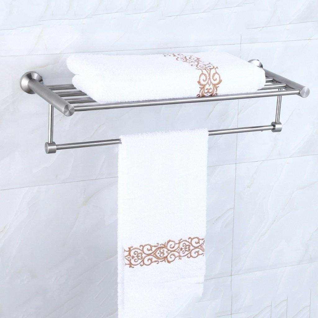 タオル棚、304ステンレス鋼線引くタオルバー、ホテルバスルームタオルバスタオル棚タオル棚L60CM * W25CM * H12CM ( サイズ さいず : 50 cm 50 cm ) B077C4GWL950 cm 50 cm