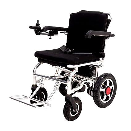 Plegable Aleación de aluminio Eléctrico Silla de ruedas Mayor Discapacitado Silla de ruedas Ligero Batería de