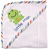 Luvable Friends Applique Hooded Towel, Blue (Discontinued by Manufacturer)
