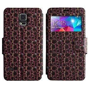 LEOCASE flor linda Funda Carcasa Cuero Tapa Case Para Samsung Galaxy S5 I9600 No.1004136