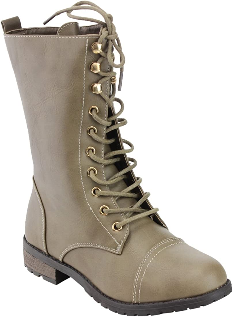 Top Moda Womens Pack-72 Lace Up Combat Boot