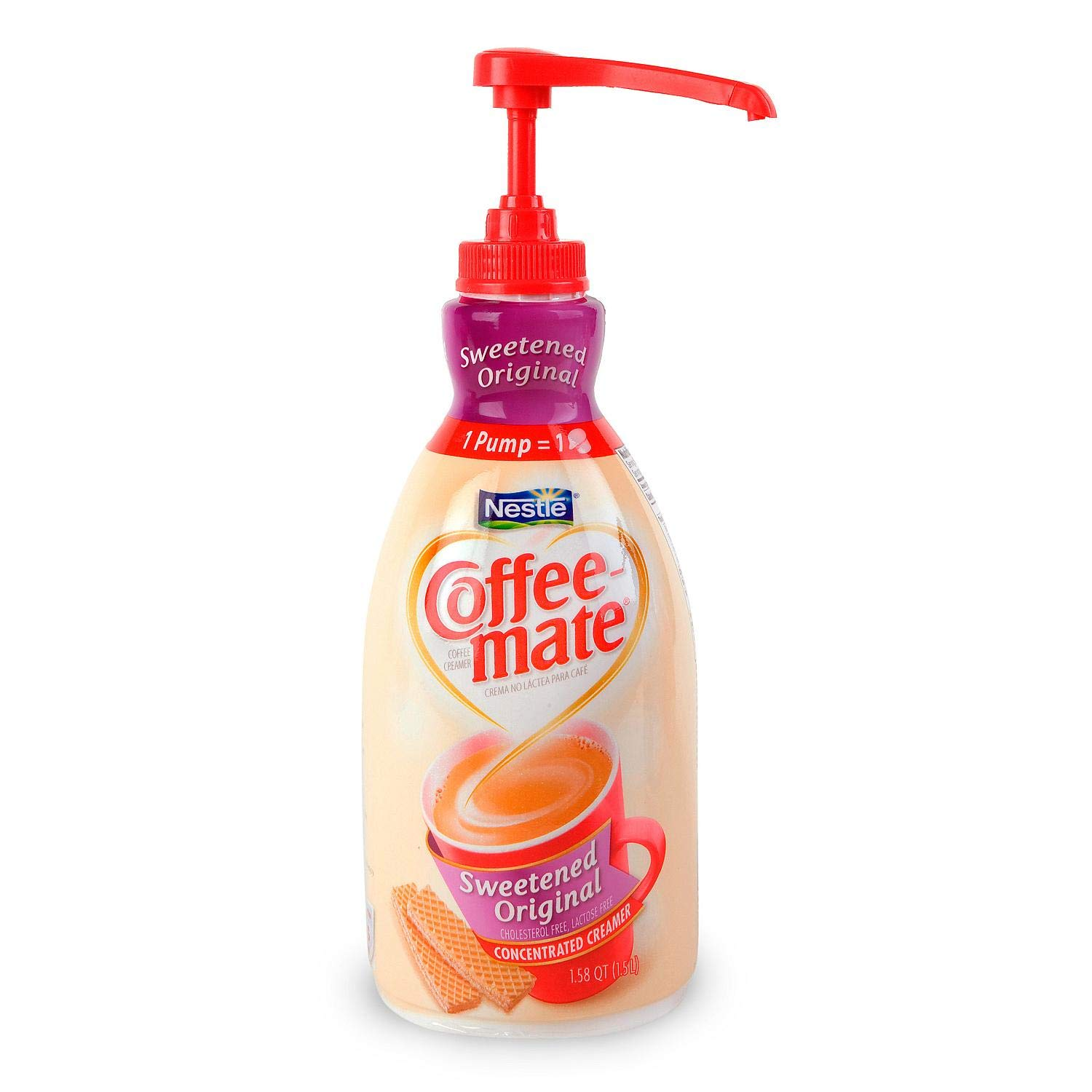 Coffee-mate 13799 Liquid Coffee Creamer, Sweetened Original, 1500mL Pump Dispenser