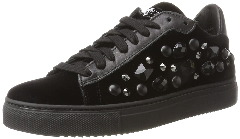 Stokton Sneaker, Zapatillas para Mujer 37 EU|Negro (Nero)