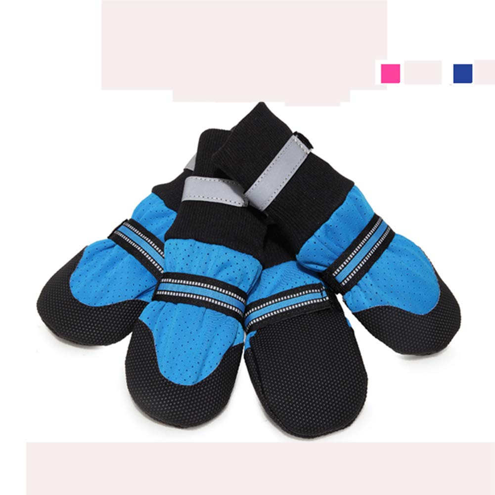 bluee XL bluee XL Dog Boots,Breathable Predect Paws Soft Nonslip Soles Dog Outdoor shoes for Medium to Large Dogs-4Pcs
